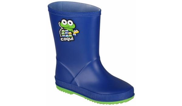 Kids Rainy Boot, Blue/Lime 4