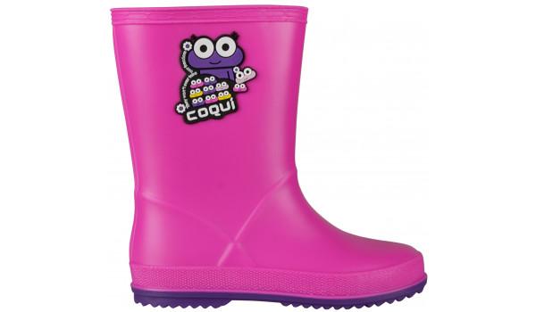 Kids Rainy Boot, Fuchsia/Purple 1