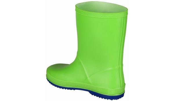 Kids Rainy Boot, Lime/Blue 2