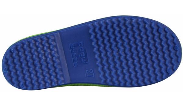 Kids Rainy Boot, Lime/Blue 3