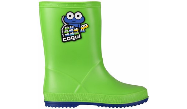 Kids Rainy Boot, Lime/Blue 1