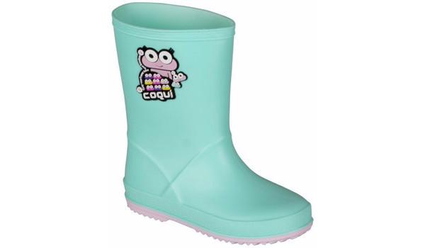 Kids Rainy Boot, Mint/Candy Pink 4