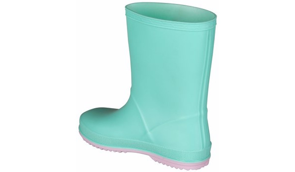 Kids Rainy Boot, Mint/Candy Pink 2