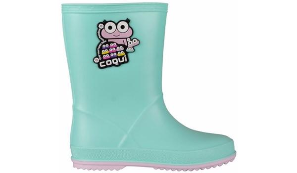 Kids Rainy Boot, Mint/Candy Pink 1