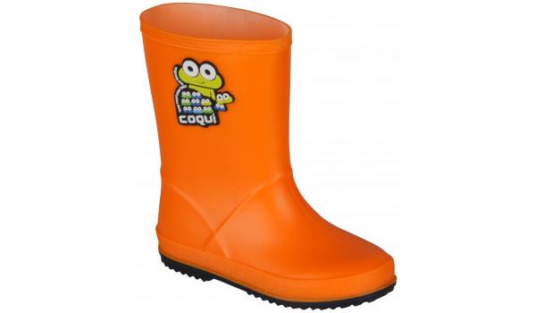 Kids Rainy Boot, Orange/Navy 4