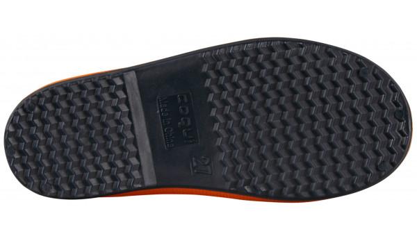 Kids Rainy Boot, Orange/Navy 3