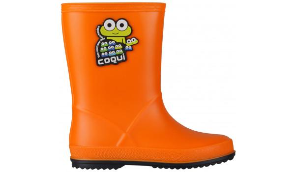 Kids Rainy Boot, Orange/Navy 1