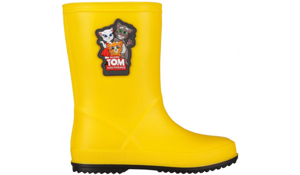 Kids Talking Tom & Friends Rainy Boot, Yellow/Antracit 1