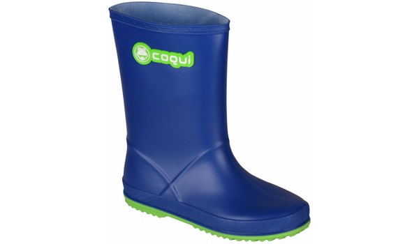 Kids Rainy Boot Junior, Blue/Lime 4