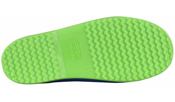 Kids Rainy Boot Junior, Blue/Lime 3