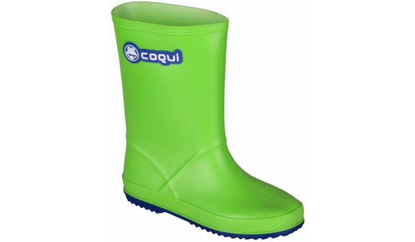 Kids Rainy Boot Junior, Lime/Blue 4