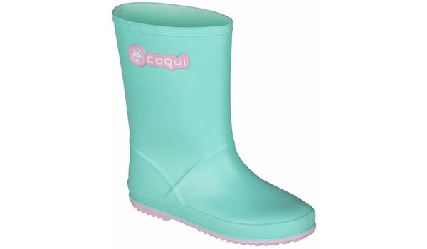 Kids Rainy Boot Junior, Mint/Candy Pink 4