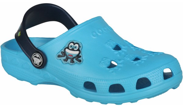 Kids Little Frog Clog, Blue/Navy 4