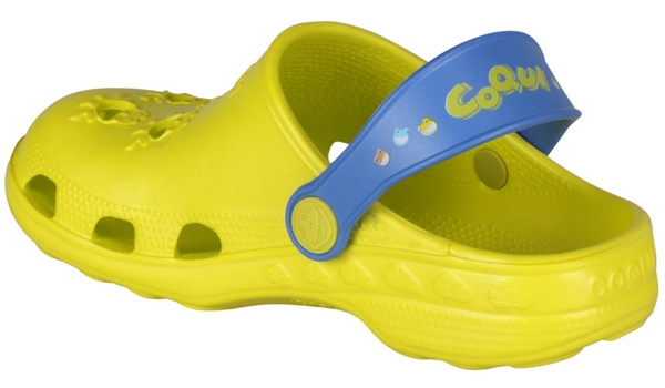 Kids Little Frog Clog, Citrus/Royal 2