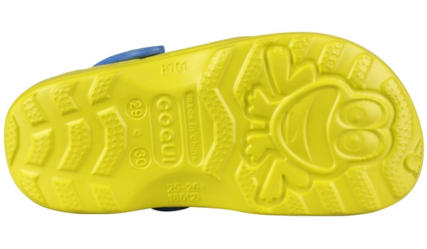 Kids Little Frog Clog, Citrus/Royal 3