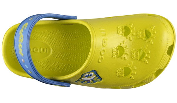 Kids Little Frog Clog, Citrus/Royal 5