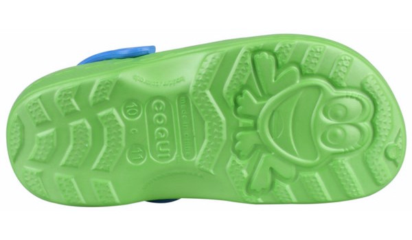 Kids Little Frog Clog, Lime/Royal 3