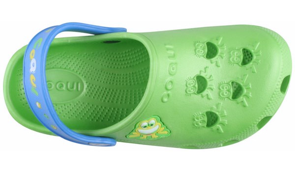Kids Little Frog Clog, Lime/Royal 5