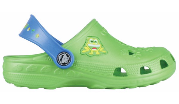 Kids Little Frog Clog, Lime/Royal 1