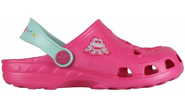 Kids Little Frog Clog, Light Fuchsia/Mint 1