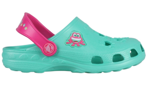 Kids Little Frog Clog, Light Mint/Light Fuchsia 1