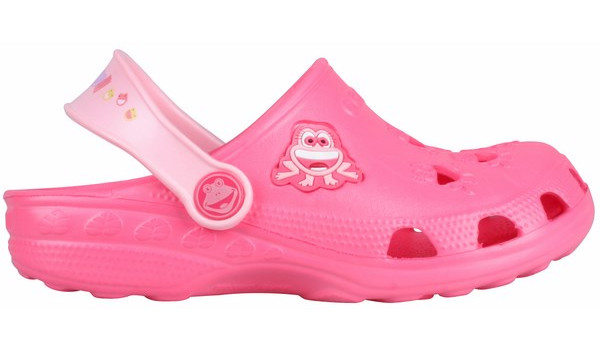 Kids Little Frog Clog, New Rouge/Candy Pink 1
