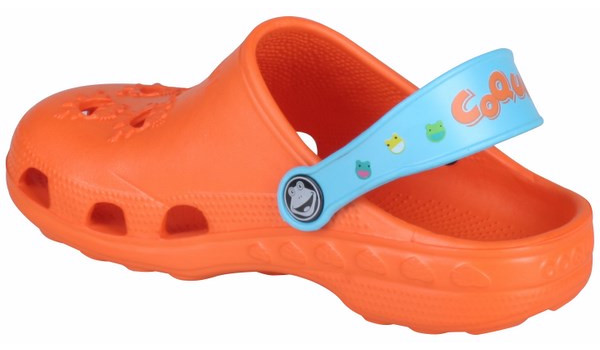 Kids Little Frog Clog, Orange/Blue 2