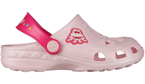 Kids Little Frog Clog, Pale Pink/Light Fuchsia 1