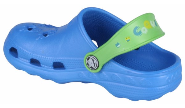 Kids Little Frog Clog, Royal/Lime 2