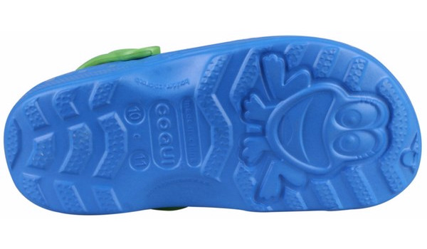 Kids Little Frog Clog, Royal/Lime 3