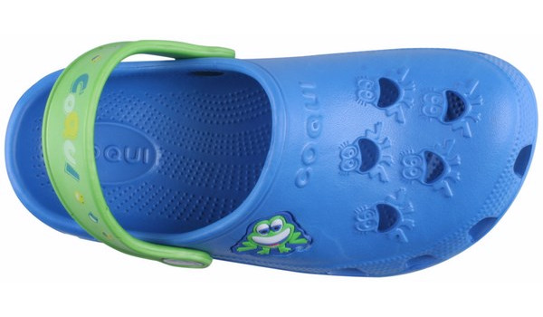 Kids Little Frog Clog, Royal/Lime 5