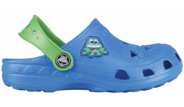 Kids Little Frog Clog, Royal/Lime 1