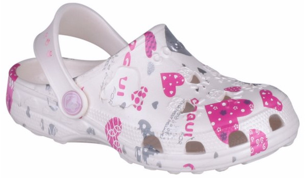 Kids Little Frog Clog, White 4