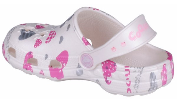 Kids Little Frog Clog, White 2