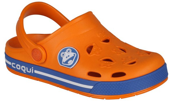 Kids Froggy Clog, Dark Orange/Royal 4