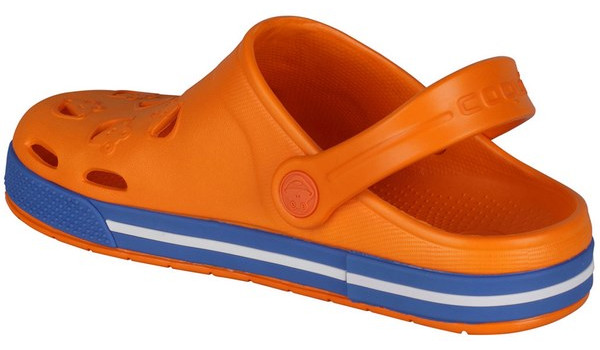 Kids Froggy Clog, Dark Orange/Royal 2