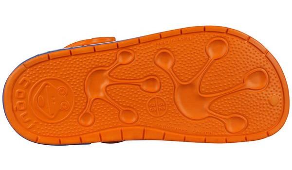 Kids Froggy Clog, Dark Orange/Royal 3