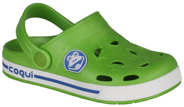 Kids Froggy Clog, Lime/White 4
