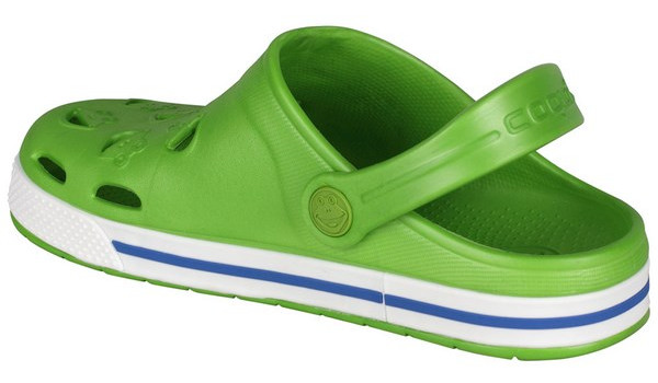 Kids Froggy Clog, Lime/White 2