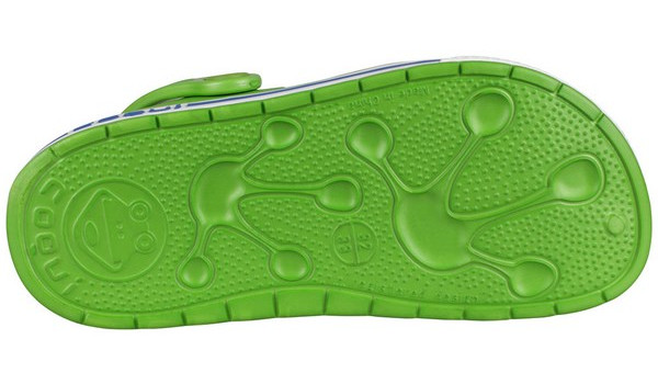 Kids Froggy Clog, Lime/White 3