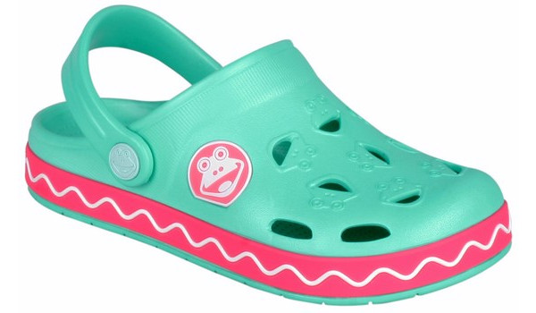 Kids Froggy Clog, Mint/New Rouge 4