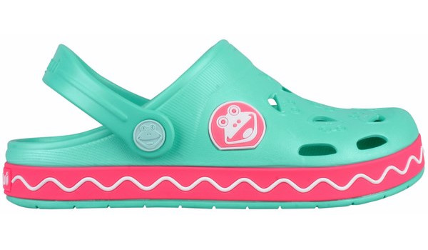 Kids Froggy Clog, Mint/New Rouge 1