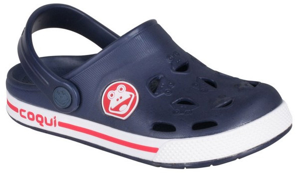 Kids Froggy Clog, Navy/White 4
