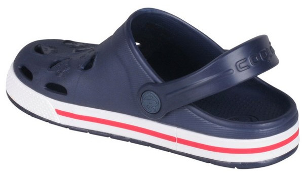 Kids Froggy Clog, Navy/White 2