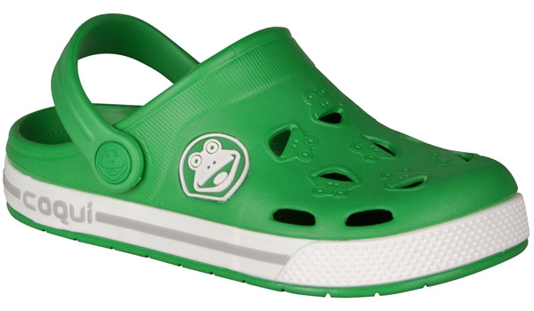 Kids Froggy Clog, New Green/White 4