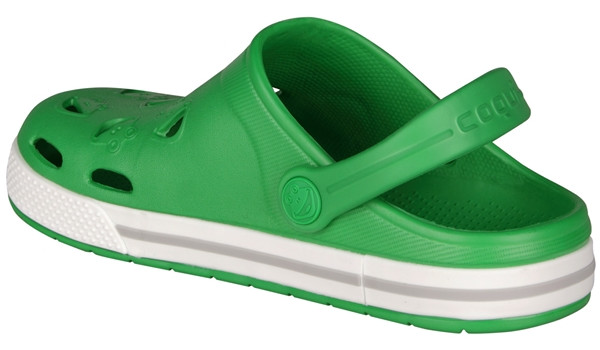 Kids Froggy Clog, New Green/White 2