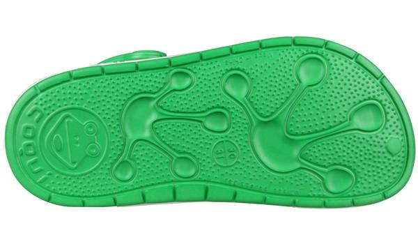 Kids Froggy Clog, New Green/White 3