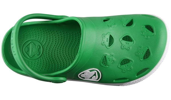 Kids Froggy Clog, New Green/White 5