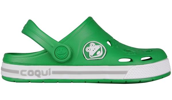 Kids Froggy Clog, New Green/White 1
