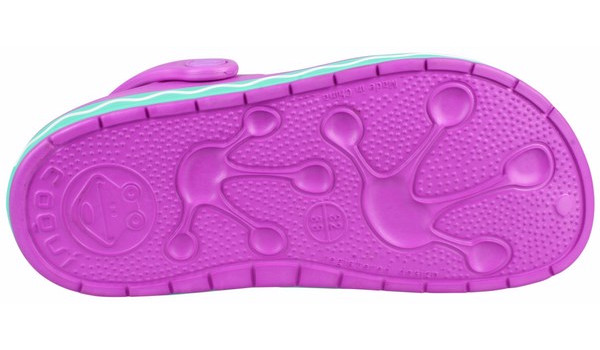 Kids Froggy Clog, New Purple/Mint 3